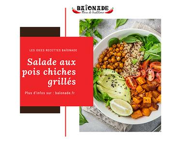Recette : salade aux pois chiches grillés