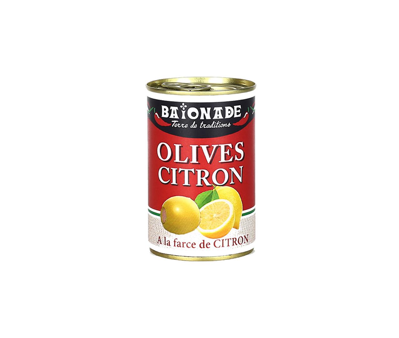 Olives farce citron Baïonade