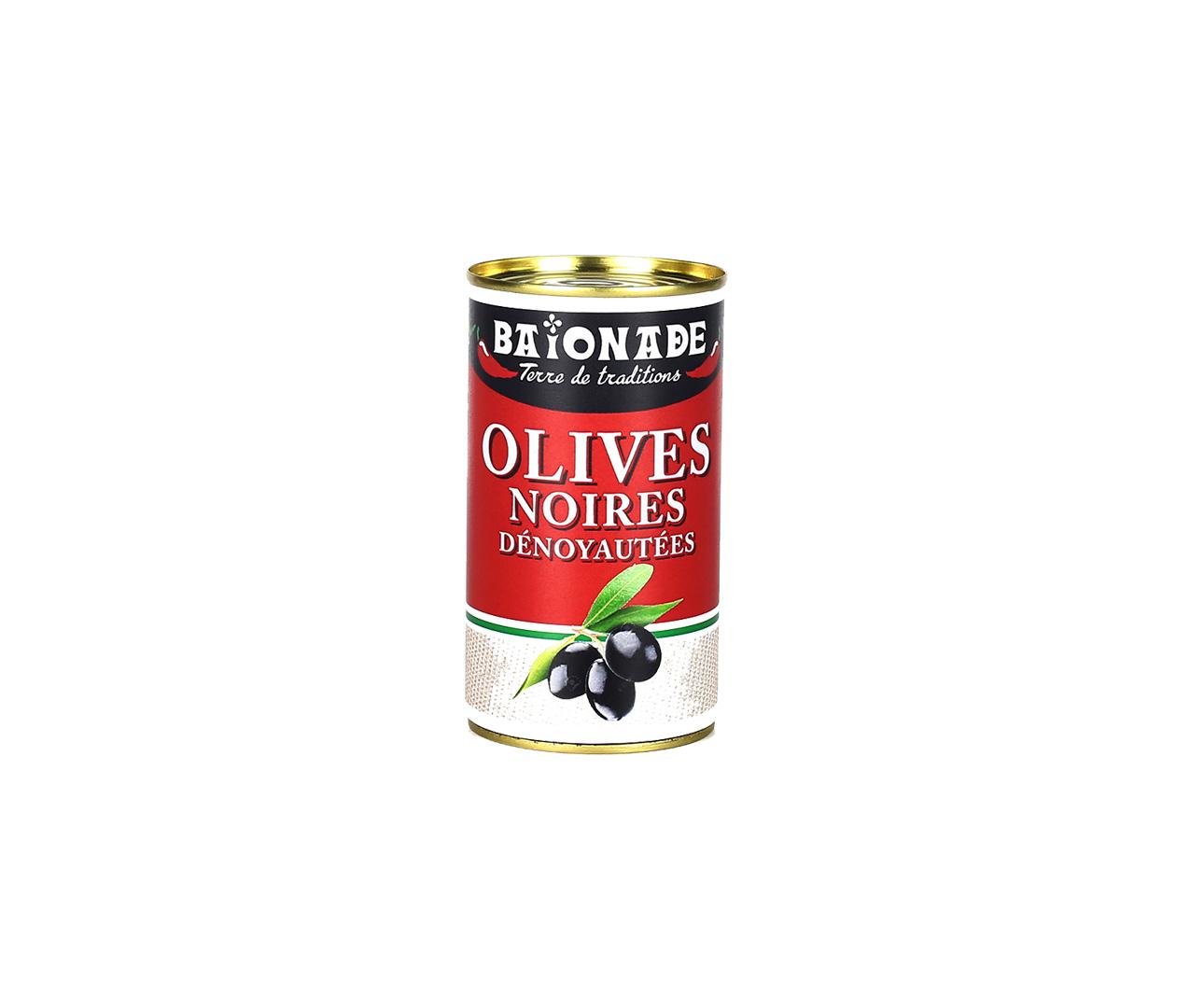 Olives noires dénoyautées Baïonade