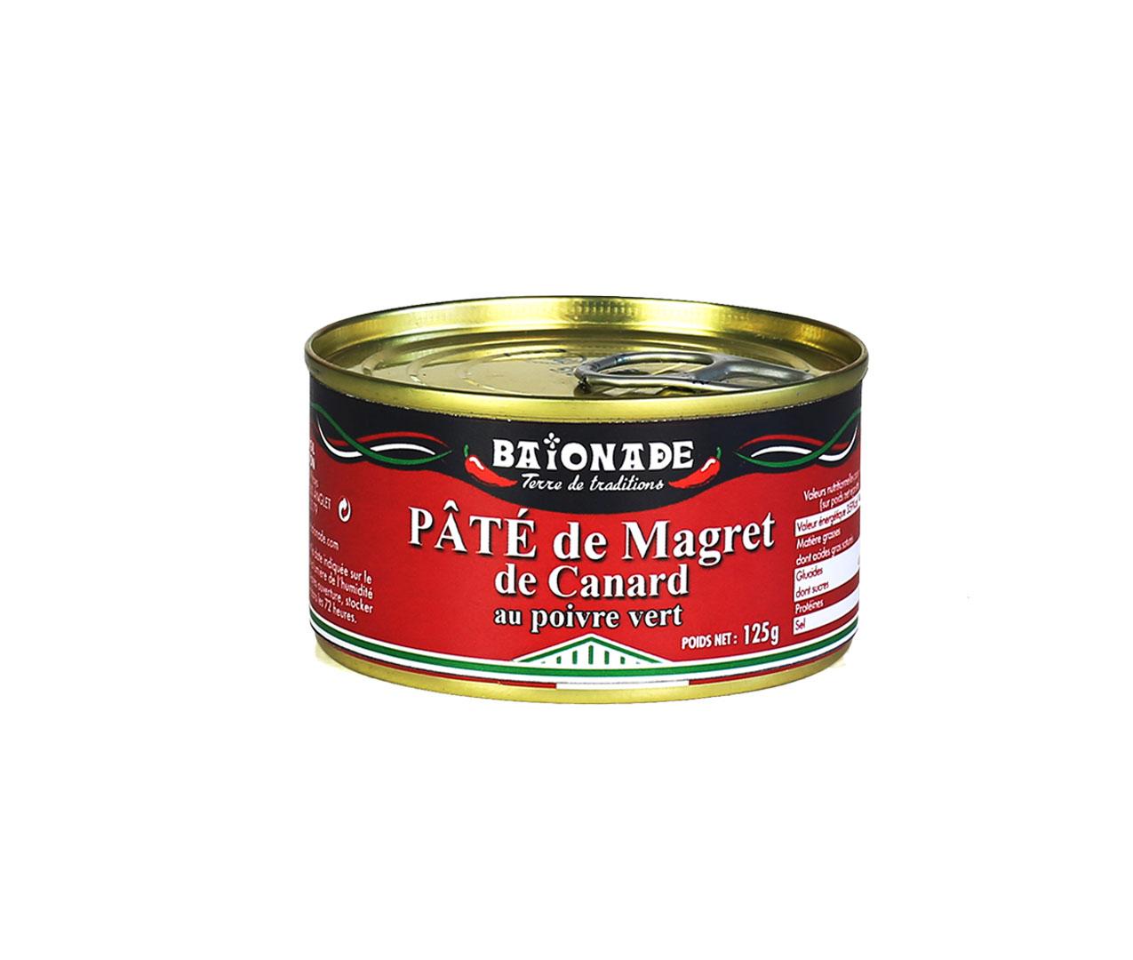 Pâté de magret de canard au poivre vert Baïonade