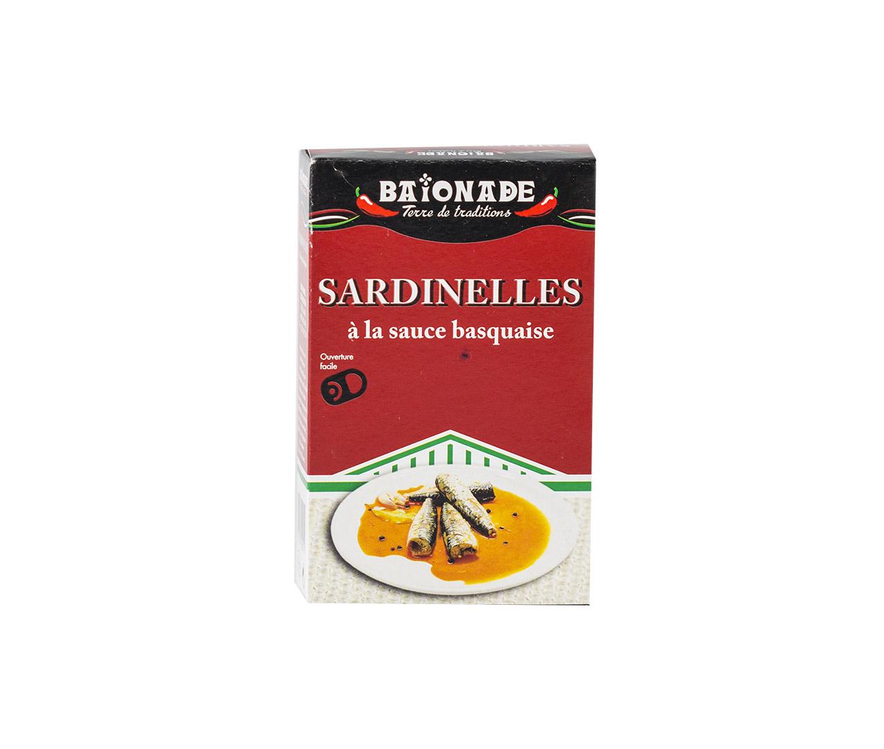 Sardinelles sauce basquaise Baïonade
